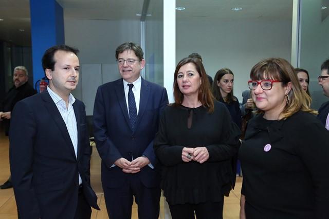 """Armengol y Puig visitan Brújula, """"ejemplo de innovación"""" según el Govern"""