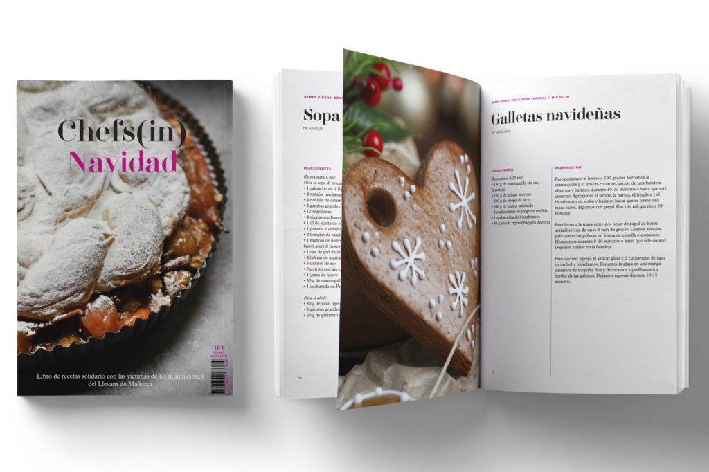 Libro de recetas solidario de Chefs (In), nuestro regalo de Navidad